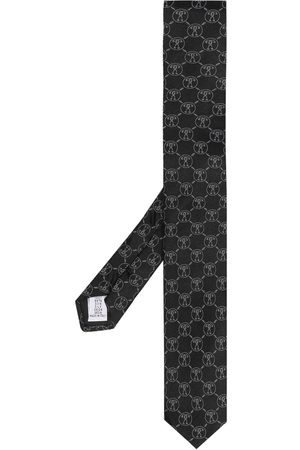 Moschino Patterned intarsia knit neck tie