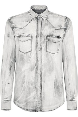 Dolce & Gabbana Homem Ganga - Bleach wash denim shirt
