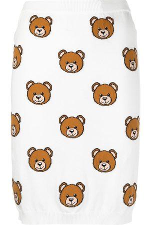 Moschino Teddy bear pattern skirt