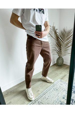 ASOS Classic rigid jeans in dark brown