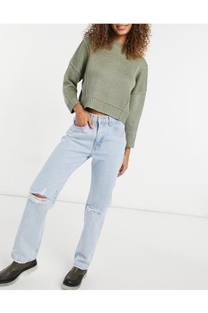 Cotton:On Cotton On dad jeans in light wash-Blue