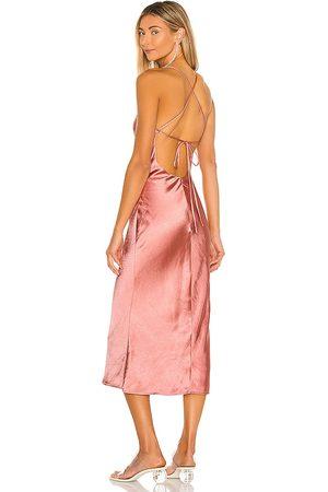 Camila Coelho Arnoldo Midi Dress in - Rose. Size L (also in M, S, XL, XS, XXS).