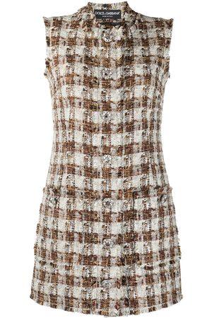 Dolce & Gabbana Checked tweed shift dress