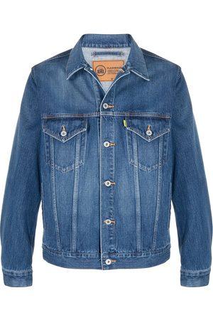 Doublet Rear graphic print denim jacket