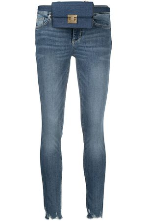 LIU JO Mid-rise skinny raw-cut jeans