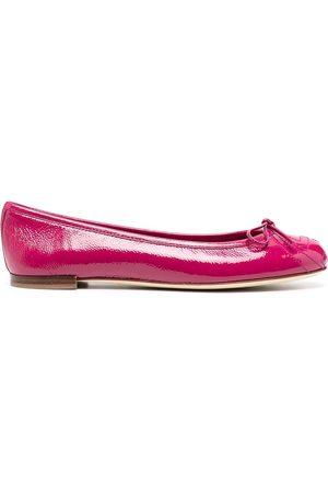 Gucci High-shine bow ballerina shoes