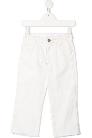 Chloé Braided-edge mid-rise straight-leg jeans