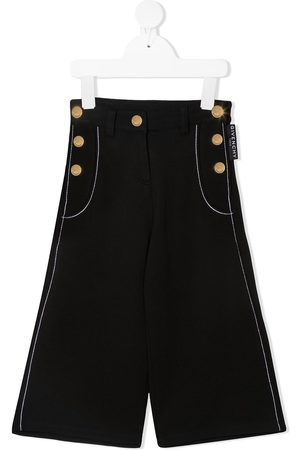 Givenchy Decorative-buttons wide-leg trousers