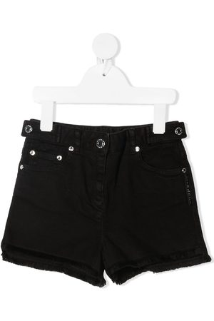 Givenchy Logo band denim shorts