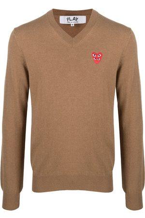 Comme Des Garçons Play Fine knit sweater with logo patch