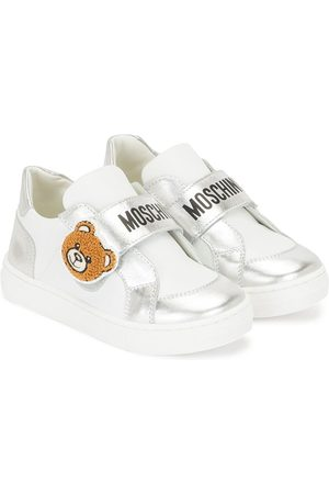 Moschino Kids Teddy Bear patch low-top sneakers
