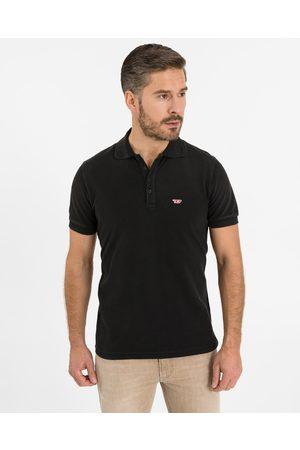 Diesel Homem T-shirts & Manga Curta - T-Night-New Polo T-shirt Black