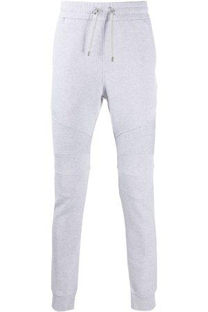 Balmain Homem Calças - Logo-print ribbed track pants
