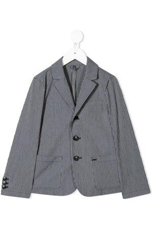 Emporio Armani Menino Blazers - Pinstripe print blazer