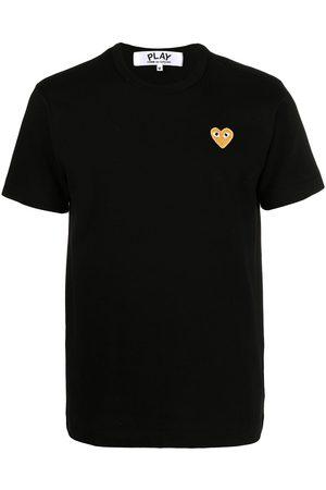Comme des Garçons Homem T-shirts & Manga Curta - Heart patch T-shirt