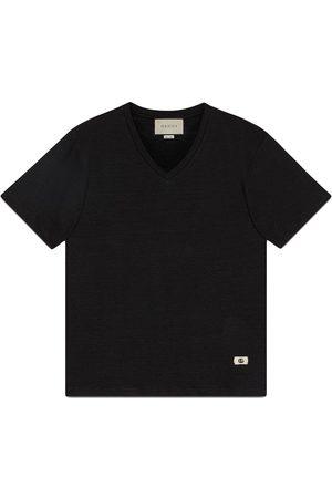 Gucci Homem T-shirts & Manga Curta - Double G motif V-neck T-shirt