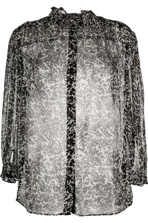 Bash Senhora Blusas - Elia abstract-print semi-sheer blouse