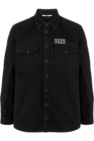 VALENTINO Homem Ganga - VLTN patch denim shirt