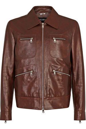 Dolce & Gabbana Multi-pocket leather jacket