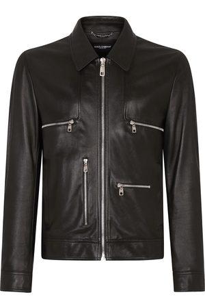 Dolce & Gabbana Homem Casacos de Pele - Zipped shirt jacket