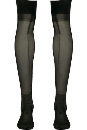 MAISON CLOSE Knee-length sheer stockings