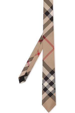Burberry Homem Laços de Colarinho - Classic Cut Check Silk Tie