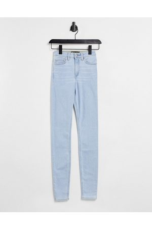 ASOS DESIGN High rise ridley 'skinny' jeans in pretty lightwash-Blue