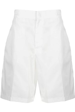 Prada Triangle-logo high-waist bermuda shorts