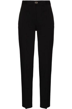 Salvatore Ferragamo Senhora Calças Formal - High-waist tailored trousers