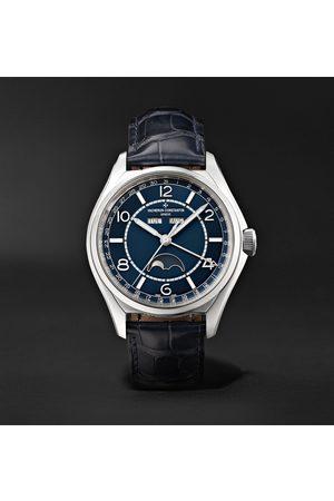 Vacheron Constantin Homem Relógios - Fiftysix Automatic Complete Calendar 40mm Stainless Steel and Alligator Watch, Ref. No. 4000E/000A-B548