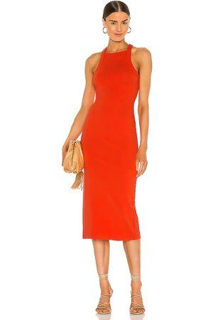 NBD Hollie Midi Dress in - Red. Size L (also in M, S, XL, XS, XXS).
