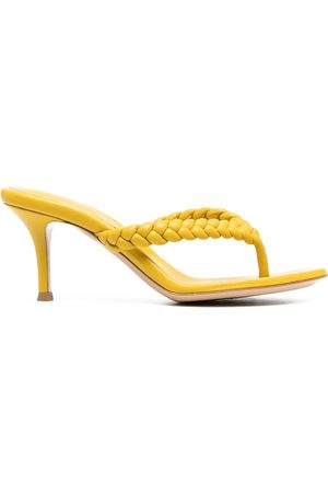Gianvito Rossi Woven-strap thong-style sandals