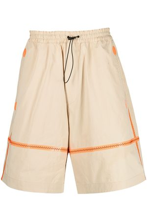 Dsquared2 Contrast-stitching wide-leg shorts