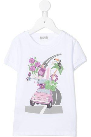 Il Gufo Holiday-print cotton t-shirt