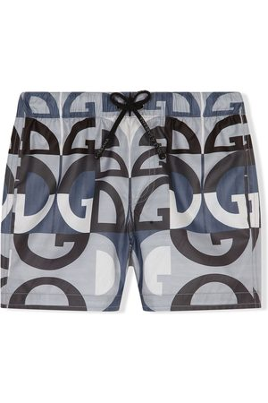 Dolce & Gabbana Kids Logo-print swim shorts