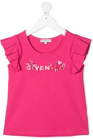 Givenchy Kids Logo-print ruffled T-shirt