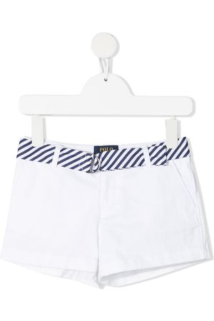 Ralph Lauren Kids Belted cotton-blend shorts