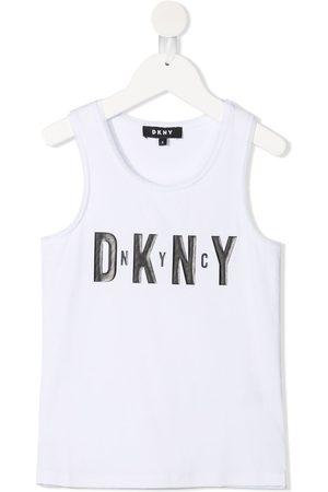 Dkny Kids Logo-print sleeveless top