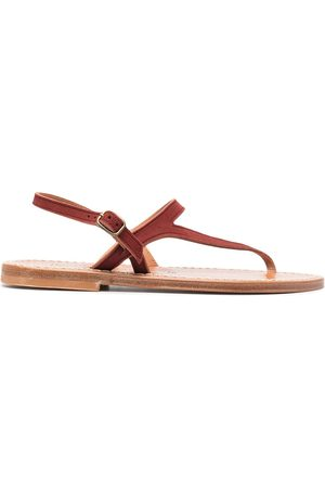 K jacques Thong strap leather sandals