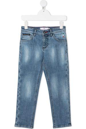 Philipp Plein Junior Iconic Plein straight-leg jeans