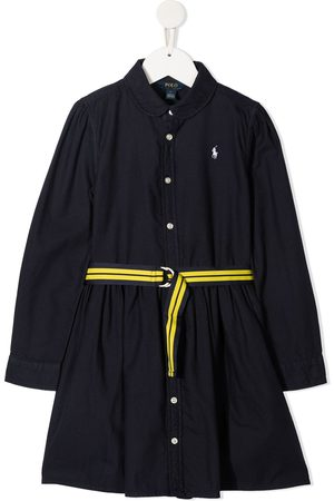 Ralph Lauren Kids Polo Pony embroidered shirt dress
