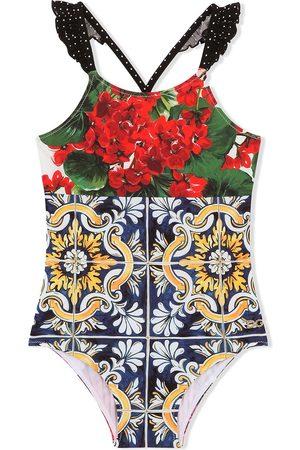 Dolce & Gabbana Kids Floral-print swimsuit