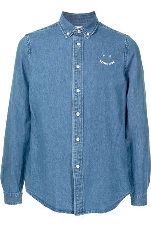 Paul Smith Smile embroidered logo denim shirt