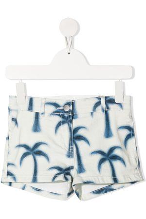 Stella McCartney Palm tree-print denim shorts