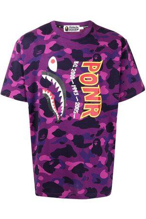 A Bathing Ape Color Camo Shark cotton T-shirt