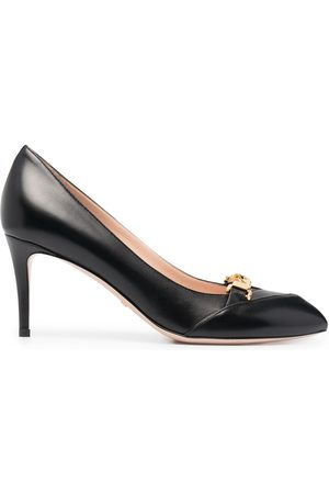 Gucci Chain-detail 95mm leather pumps