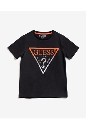 Guess Embroidery Front Logo T-shirt Black