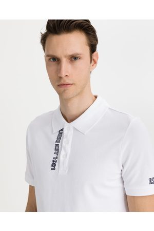 Guess Homem T-shirts & Manga Curta - Lyle Polo T-shirt White