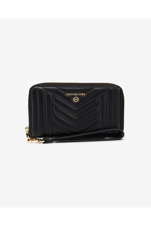 Michael Kors Large Quilted Leather Smartphone pochette Black