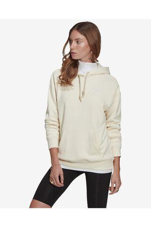adidas Senhora Camisolas sem capuz - Adicolor Classics Trefoil Sweatshirt Beige